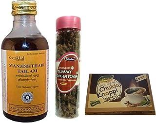 Kotakalaarya VadyaSaala oil 200ml x 4 bottles, With Free Dilbahars Yummy Digestives Khatta Mitha Chhuhara 900gm & Assal Dr...