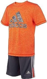 Adidas - Juego de camiseta y pantalones cortos para niños (2 piezas)