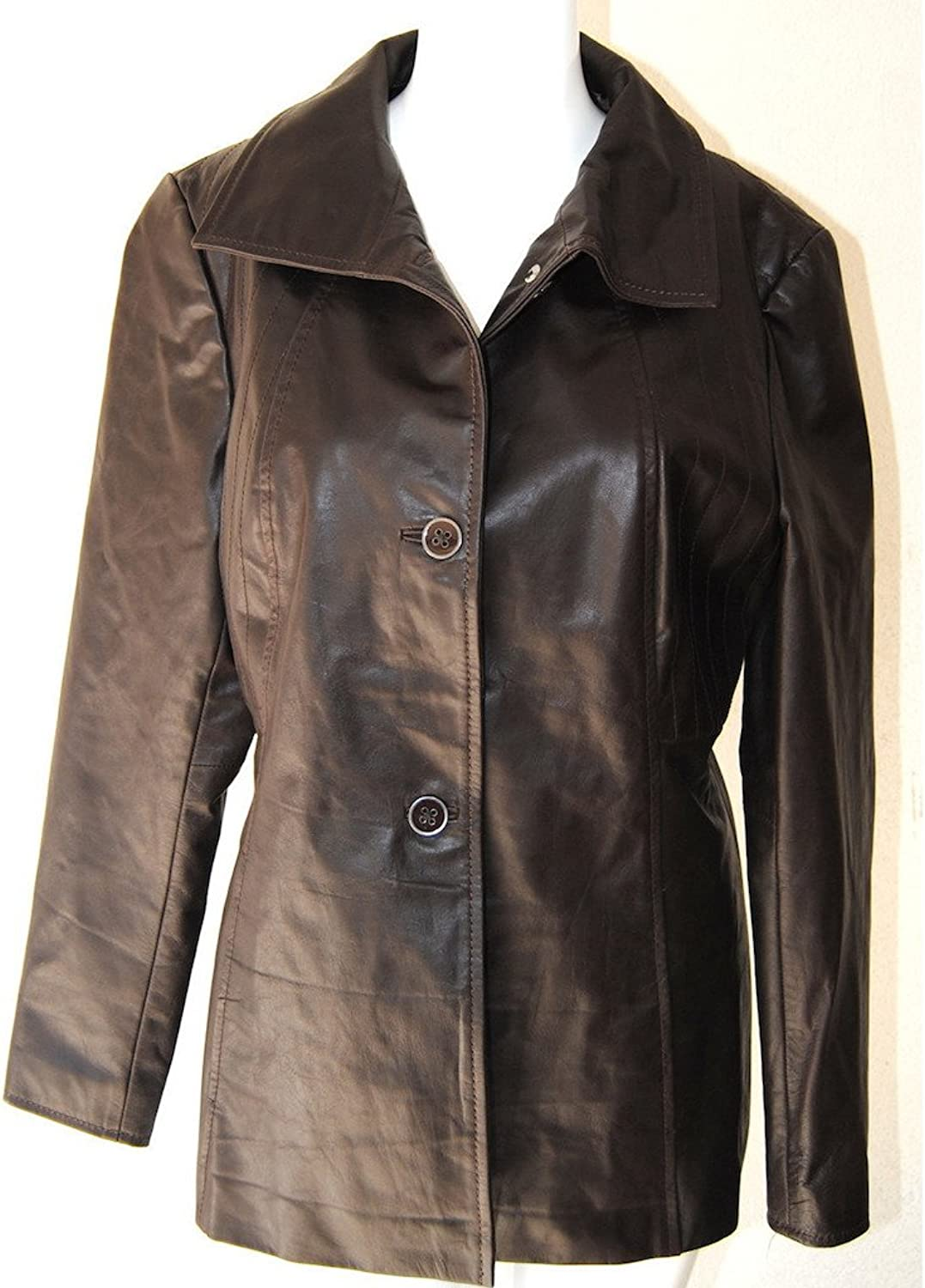 Fadcloset Alyssa Womens Leather Coat