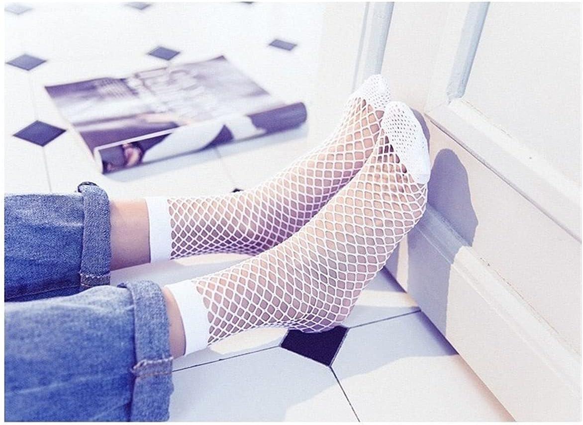Moonlight Star 1 Pair Cute Casual Women Fishnet Mesh Lace Fish Net Ankle High Short Socks White Colors (Color : White)