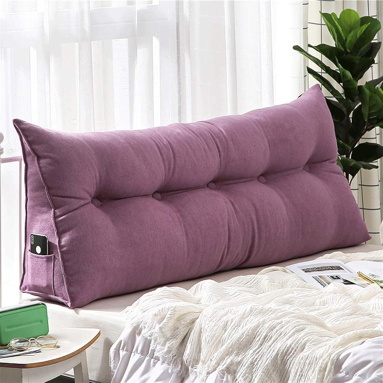 A + Coussin de chevet détachable triangle, oreiller long tatami, dossier double simple, coussin de tête de lit sofa (Couleur   H, Taille   150x50x20cm (59x20x8inch))