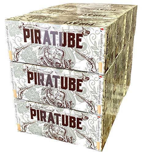 3600 tube à cigarette Piratube | 12 boites de 300 tubes avec filtre