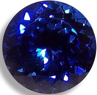 OptimaGem Lab Sapphire Round 4mm-12mm Loose Gemstones (8mm, deep Blue)
