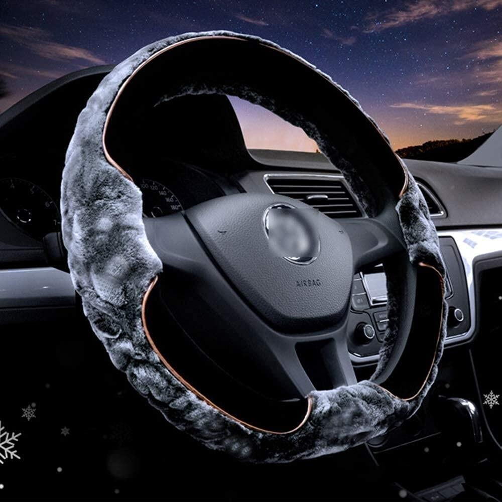 Genuine Free Shipping Z.L.Q Steering Wheel Cover Covers New color Mink Type Vel D