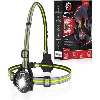 3 ModesFits Fully  LINZOR ACTIVE Running Chest Light Lamp LED 250 Lumen