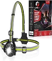 LUMEFIT Hardloopverlichting, Hardlooplicht, Borst LED-lamp - 90° verstelbare stralingshoek, 360 graden reflecterende...