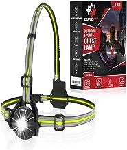 LUMEFIT Hardloopverlichting, Hardlooplicht, Borst LED-lamp - 90° verstelbare stralingshoek, 360 graden reflecterende band,...