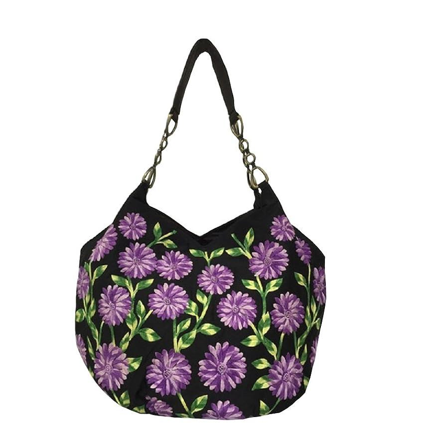 ロビーファン犯罪ベトナムバッグ 刺繍 ビーズ チェーン トートバッグ 肩掛け 鞄 ベトナム雑貨