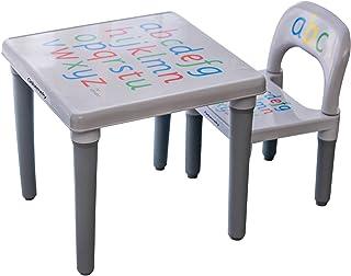 مجموعة طاولة وكرسي أنشطة للأطفال الصغار من أوسميكي، كرسي طاولة للأطفال مع ملصقات مضادة للانزلاق/أثاث بلاستيكي للدراسة والل...