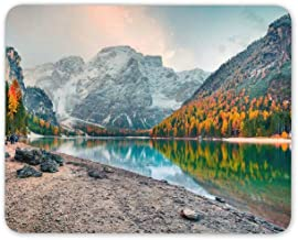 Braies Lake Dolomites Mouse Mat Pad - Italian Alps Nature Computer Gift HB4921