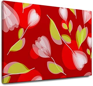 NOAON Wall Art Flower Tulips Ready to Hang Painting 36x24inch Present 1 Panel Giclee Print Canvas Print