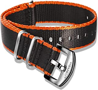 18mm Soft Seatbelt Nato Strap, Durable Nylon Watch Bands for Men Women Choice for Replacement of All Watch