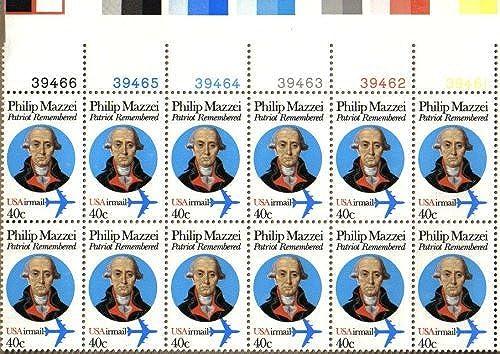para mayoristas 1980 PHILIP MAZZEI MAZZEI MAZZEI  C98 Airmail Plate Block of 12 x 40 cents US Postage Stamps by US Post Office Dept  buen precio