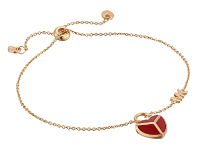 Michael Kors Enamel Heart Bracelet (Rose Gold Tone) Bracelet