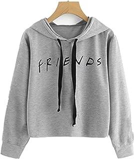 Baby Room Women's Letter Crop Tops Hooded Pullover Sweatshirts