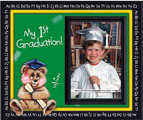 Prek Graduation Kindergarten Preschool Graduation Picture Frame | Colorful and Fun | Holds 3.5 x 5 Photo | First Graduation Keepsake Gift | Innovative Front-Loading Photo | Bear Design