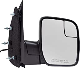 Passengers Power Side View Mirror with Spotter Glass Sail Type Replacement for 2009-2014 E-Series Van AC2Z 17682 AA