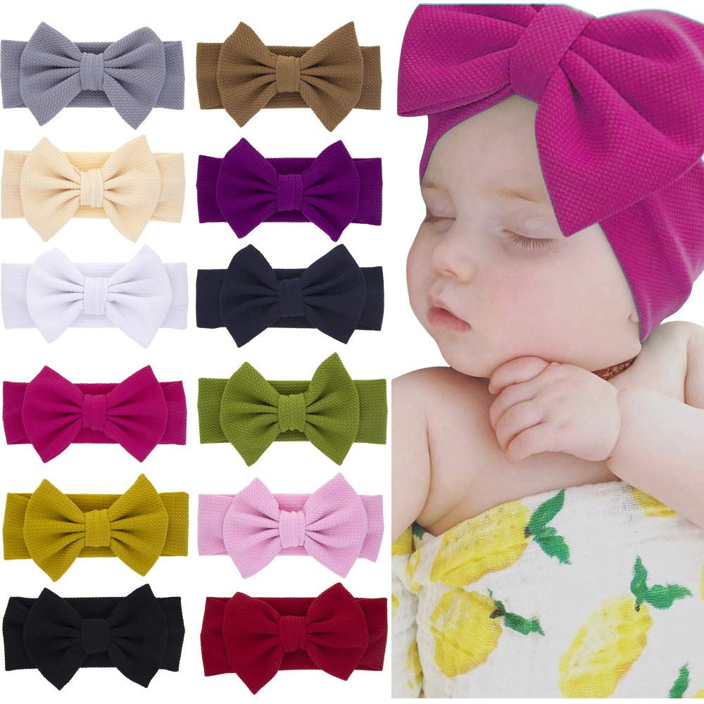 BabyGirl Pineapples Fabric Bow on Nylon Headband or Hair Clip