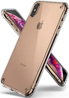 كفر ايفون اكس اس ماكس, iPhone XS Max , رينجكي , شفاف صلب من الخلف , إطار مرن , شفاف