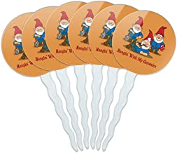 GRAPHICS & MORE Hanging with My Gnomies Gnomes Cupcake Picks Toppers Decoration Set of 6
