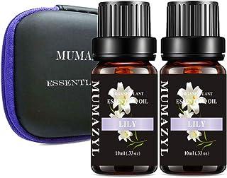 MUMAZYL 2Pack Lily Essential Oils Organic Olant & Natural 100% Pure Therapeutic Grade Oil - Perfect for Diffuser, Humidifi...