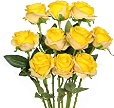 Best yellow roses artificial flowers Reviews