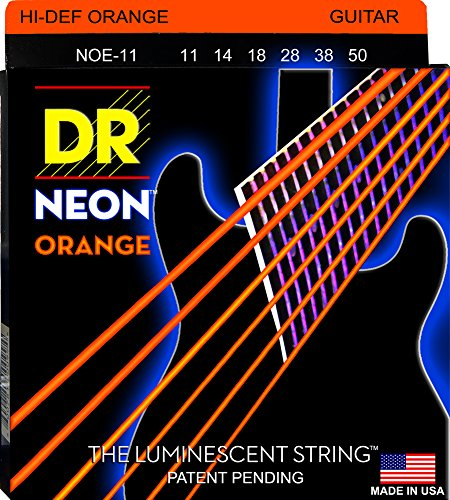 Dr Strings Neon Orange Set Saiten der E-Gitarre 11–50