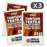 Set de 3bolsas de tinte textil?Roux?Teintures universales para ropa y telas naturales