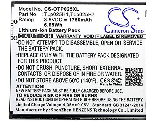 Por publicación de NL Cameron Sino 1750mAh Batería TLp025H1, TLp025H7 para Alcatel One Touch POP 4, One Touch POP 4 LTE, OT-5051, OT-5051X
