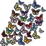 FRIUSATE 36 Piezas Parches Decorativos Mariposas Parches para Ropa...