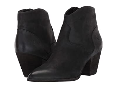 Frye Reed Bootie (Black Nubuck) Women