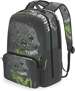 Mochila con bolsa cruzada desmontable, mochila para computadora Alien, bolsa de libro para viajes, senderismo, acampada