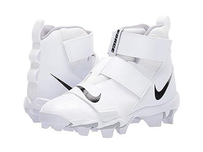 Nike Kids Force Savage Shark 2 Football (Toddler/Little Kid/Big Kid) (White/Black/Wolf Grey) Kids Shoes