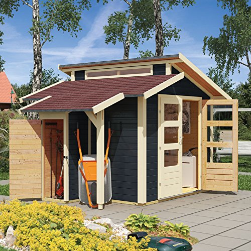Karibu Gartenhaus Grönelo mit Schleppdach, naturbelassen