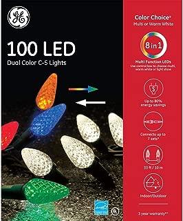 GE Color Choice Dual Color 100 LED Warm White/Multi C5 Christmas Light Set