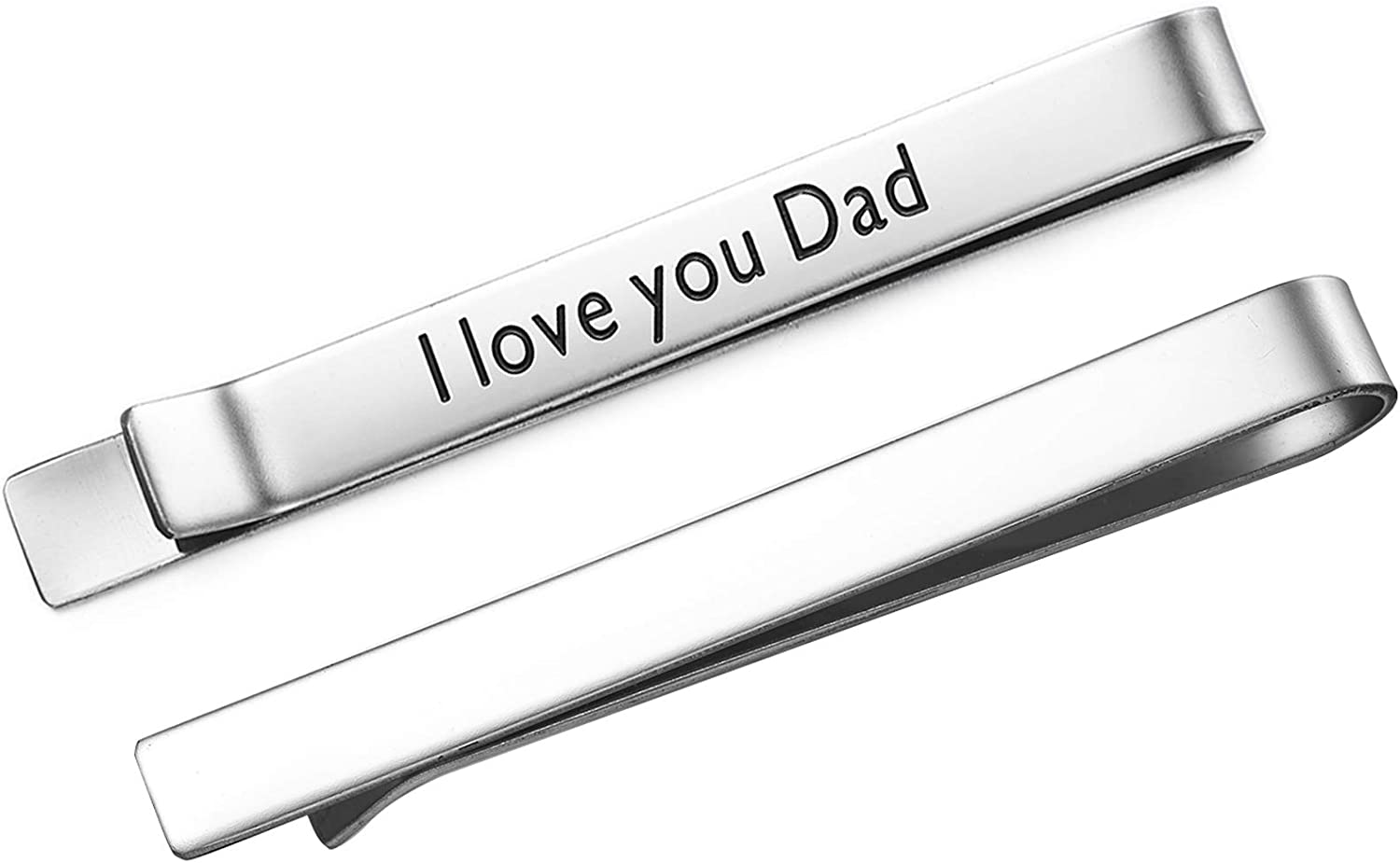 Melix Beautiful Dad Tie Clip, Personalized Tie Clips for Men, for Daddy Grandpa Husband, Custom Message from The Kids
