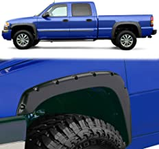 Fender Flares Kit for 1999-2006 Chevy Silverado GMC Sierra (Incl. 2007 Classic Models), Textured Matte Black Finish Front Rear Tire Fenders Pocket Rivet Style 4Pcs