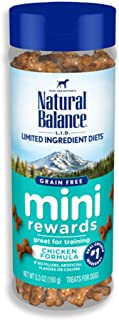 Natural Balance L.I.D. Limited Ingredient Diets Mini Rewards Dog Treats, 5.3 Ounce, Grain Free, Training Treats (Packaging...