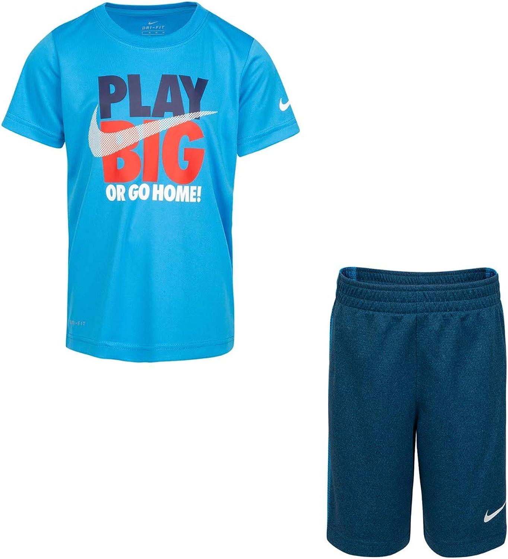 Nike Boys' Play Big 2-Piece Shorts Set Outfit - Multi, 7