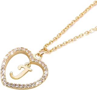 Wishoney Letter Pendant Necklace A-Z Name Necklace Initial Necklace Women Jewelry Message Card