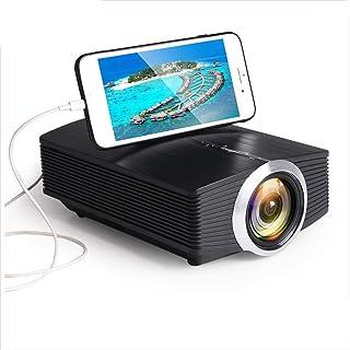 DZSF Mini-projektor YG510, 1080P 1800Lumen bärbar LCD LED-projektor hemmabio USB HDMI 3D beamer bashögtalare
