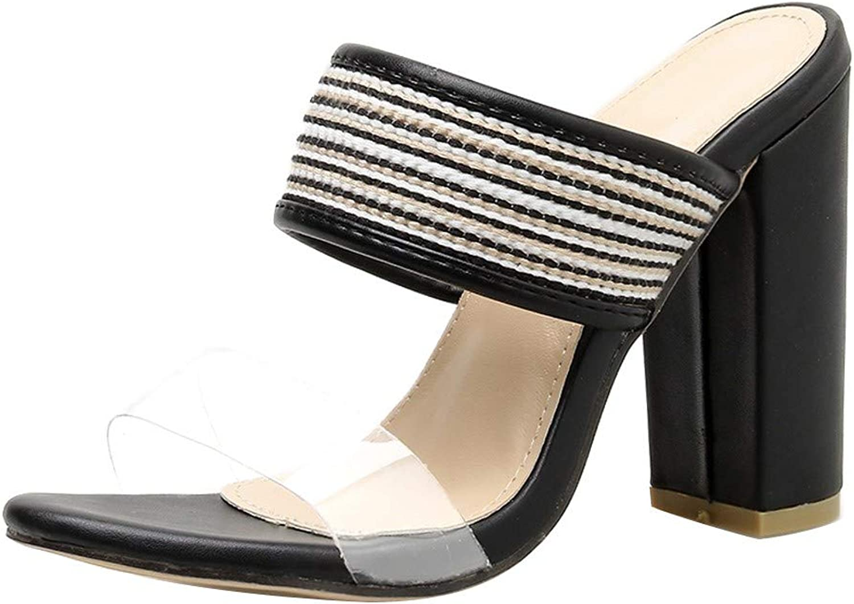 BESSKY Women Summer Sandals Flip Flop Hollow High-Heeled shoes Party Open Toe Slippers
