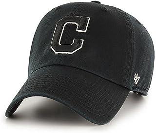 47 品牌 克利夫兰印*安人MLB Clean Up Dad 帽子黑色/白色