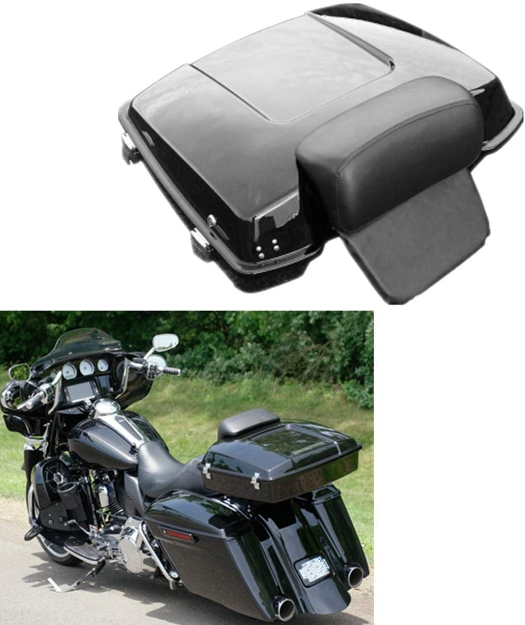 TCT-MT Razor Tour Pack Pak New life Trunk w 1 2021new shipping free Backrest Pad Harley Fit For
