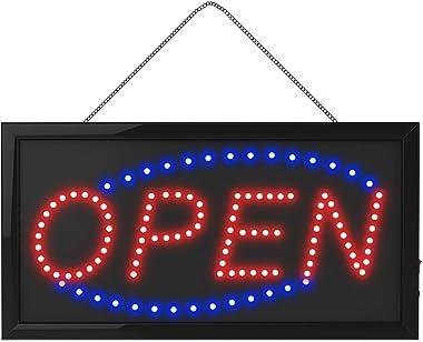 LED Ouvert Sign Lumineux Clignotant FenêTre pour Boutique,Lettres Open en Forme D'Enseignes Au NéOn 2 Modes Clignotants p