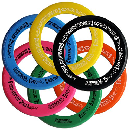 Whiz Ring Freestyle Flying Disc Six Pack  Assorted Colors
