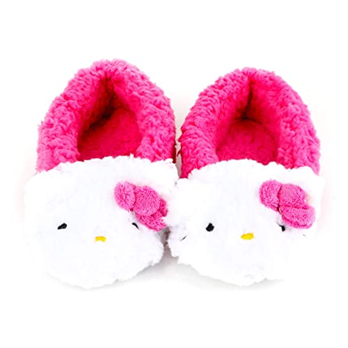 f011c0723 Hello Kitty Hello Kitty Fluffy Plush Slippers, Pink, 5/6