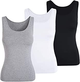 TAIPOVE Tank Tops Camisole for Women with Built in Bra Undershirt Sleeveless Cami 1/3 Pack