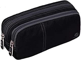 Pencil Case Large Pencil Pouch with Double Zippers for Middle High School Collage Office Student Boys Girl Adults 60 Pens (Black)
