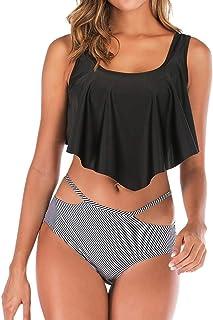 7e2ad106cfe7 Costume da Bagno Donna ABCone Donna Stampa Costume da Bagno a Due Pezzi  Sexy Donna Tankini